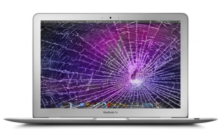 broken Macbook air screen fresco
